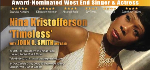 Nina Kristofferson, The Pheasantry (20,24 Oct)