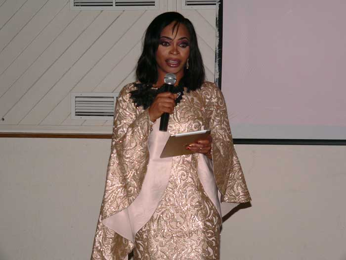 Mask Ball event organiser and Cedarcube charity founder Ihu Nweke.