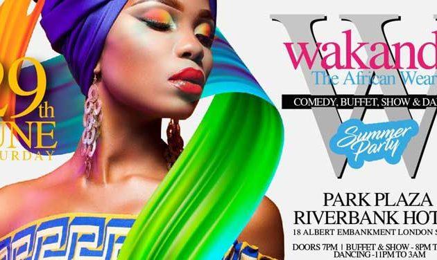 Wakanda African Wear Dinner, Show and Dance (29 June)